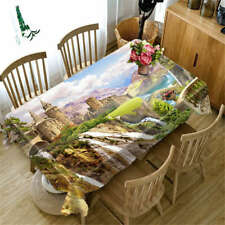 Steep Cliff 3D Tablecloth Table cover Cloth Rectangle Wedding Party Banquet