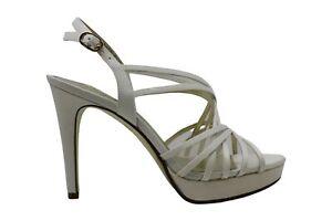 Adrianna Papell Women's Shoes ADRI Satin Open Toe Casual, Ivory Satin, Size 7.5