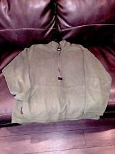 Navy Marine Corps Peckham Polartec Fleece 1/2 Zip Jacket Mens Size Large Green