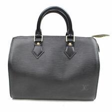 Auténtico Louis Vuitton Bolso de Mano Speedy 25 Noir M59232 Negro Epi 251737