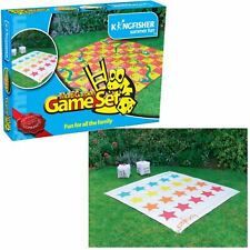 Giant 2 in 1 Garden Snakes & Ladders / Tangled Twister Outdoor Game