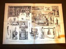 Incisione enorme del 1887 Collezione Birmana donata al Museo preistorico di Roma