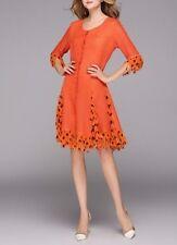 Jerry T Stretchy Dress 1X 18 20 Plus Size Party Dress Halloween Orange SR118