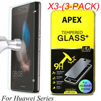 3X Tempered Glass Film Screen Protector For Huawei P8/P9/P10Plus/Lite Honor 8 9