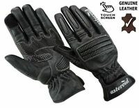 New ASTEROID Leather Motorcycle Gloves Touch Screen Mens Ladies Motorbike Gloves