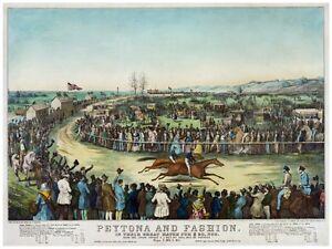 4460.Peytona and Fashion.horse race.two horses.POSTER.decor Home Office art