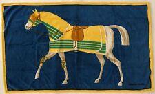 Vintage Hermès Beach Bath Towel 34x56 Horse Print Rare Authentic