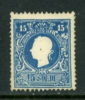 Austria 1858 LomabardyVenetia 15 Scoldi Type 2 Perf 14½ Mint P106