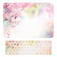 "2016 Macbook Pro 15"" A1707 Touch Bar Matte Case + Keyboard Skin - Cherry Blossom"