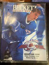 Peter Forsberg Signed Beckett Oct 1995