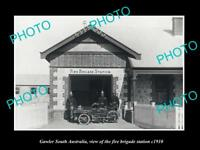 OLD LARGE HISTORIC PHOTO OF GAWLER SOUTH AUSTRALIA, FIRE BRIGADE STATION c1910