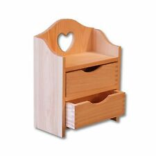 Untreated Wooden Make Up Vanity Stand with Drawers Handmade Present Gift