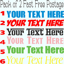 Custom Text Personalized Sticker Decal Name Lettering Any Words Many Uses Pack 2