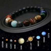 Eight Planets Natural Stone Universe Solar Galaxy 7 Chakra Beads Bracelets Yoga