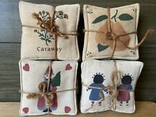 Alice's Country Cottage Spiced Mug Mats Set of 4 Made in Usa New B2C
