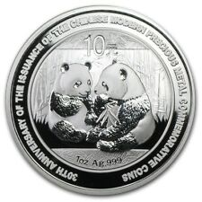 2009 Chinese Panda 1 oz Silver Coin In Mint Capsule  (30th Anniversary)