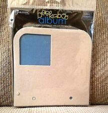 "Scrapbook Chipboard & Acrylic Album Square 6.5"" x 6.5"" Tinkering Ink Peek-a-boo"
