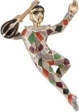 Gold Plated Harlequin Brooch With Swarovski Ari D Norman