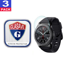 (3 Pack) GLASAVE Tempered Glass Screen Protector For Samsung Gear S3 Frontier
