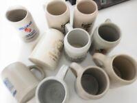 10x Steingut / Bierkrug* Sammlerkrüge Bierhumpen verschiedene Motive 0,5 l