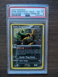 Dark Dragonite Holo PSA 8 #15 15/109 EX Team Rocket Returns James Pokémon 2004