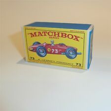 Matchbox Lesney 73 b Ferrari Racing Car empty Repro E style Box