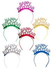 25 cerchietti in carta metallizzata Happy New Year colori assortiti