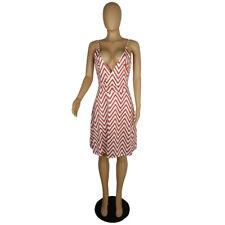 Women's Sexy Spaghetti Strap V Neck Print Backless Casual Clubwear Summer Dress