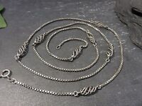 Schöne 835 Silber Kette Venezianerkette Jugendstil Art Deco Wirbel Lang XXL Top