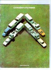 Livre ancien brochure publicitaire CITROEN UTILITAIRES année modele 1980 tube