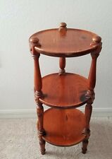 Vintage Ethan Allen Old Tavern Collection Round 3 Tier Plant Stand Accent Table