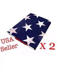 3'x5' ft U.S.A American Flag Brass Grommets America Stars Pride Stripes - 2 pack