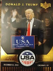 Donald J. Trump Thank You America Card TY1 Decision 2016