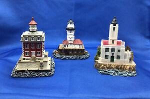 Lighthouse Mini Figures SCAASIS Lot X 4 SHIP JOHN SHOAL Alcatraz EDGARTOWN LIGHT