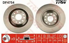 2x TRW Rear Brake Discs Vented 310mm for AUDI A3 DF4754 - Mister Auto