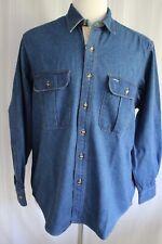 Boston Traders Men's Long Sleeve Button Down Denim Shirt size L