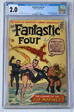 Fantastic Four #4 CGC 2.0  Sub Mariner! OW/W