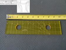 Quilting Template Ruler 5mm Straight Lines for Long Arm, High Shank Machines