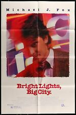 Michael J Fox BRIGHT LIGHTS BIG CITY  ORIGINAL 1988 ONE 1-SHEET MOVIE POSTER