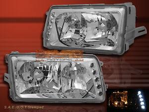 1981-1991 MERCEDES BENZ W126 S CLASS 4DR SEDAN HEADLIGHTS LED CLEAR NEW