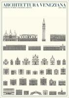 Venedig Venezianische Architektur Plakat Poster Kunstdruck Bild 84,1x59,4cm
