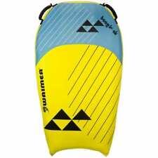 Waimea Bodyboard Opblaasbaar Boogie Air PVC Geel en Blauw Waterboard Surfboard