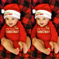 MY First Christmas Baby Boy Girl Unisex Romper Bodysuit Jumpsuit Clothes Outfits