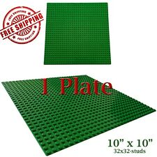 For LEGO, 1 Green 10x10-inch 32x32-stud Brick Building Base Plate