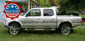 fit:2001-2004 Toyota Tacoma Crew/Double Cab 4Pc Window Sill Trim Stainless Steel