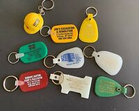 9 Vintage Keychains, Montana Construction Supply  - Lot 113