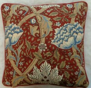 """WINDRUSH BY WILLIAM MORRIS 18"""" CUSHION COVER STUNNING ICONIC  DESIGN 100% COTTON"""