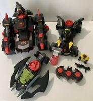 Imaginext DC Huge Lot- R/C Batbot, Batmobile, Batwing, and all Accessories