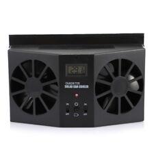 Auto Ventilation Car Cooler Solar Powered Exhaust Fan Black