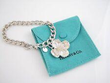 Tiffany & Co RARE Silver Dogwood Charm Bracelet Bangle!